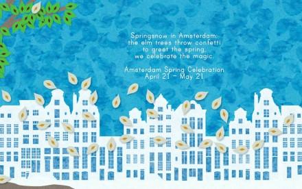 Springsnow in Amsterdam